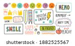 diary cute note elements. hand...   Shutterstock .eps vector #1882525567