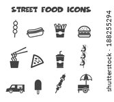 street food icons  mono vector... | Shutterstock .eps vector #188255294