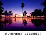 Silhouettes Of Young Couple At...