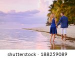 beautiful romantic couple on a... | Shutterstock . vector #188259089