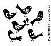 set of cartoon birds.   Shutterstock .eps vector #188259824