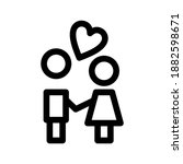 couple icon or logo isolated... | Shutterstock .eps vector #1882598671