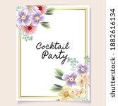 vintage delicate greeting...   Shutterstock .eps vector #1882616134