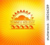 summer holidays illustration... | Shutterstock .eps vector #188266289