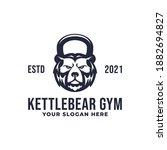 kettlebell bear gym fitness...   Shutterstock .eps vector #1882694827