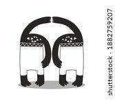 character design of four eyed... | Shutterstock .eps vector #1882759207