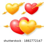 couple and single golden and... | Shutterstock .eps vector #1882772167