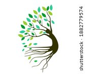 Abstract Human Tree Logo....