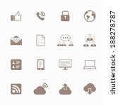 internet icons set  | Shutterstock .eps vector #188278787