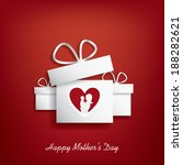 happy mother's day card design... | Shutterstock .eps vector #188282621