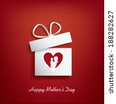 happy mother's day card design... | Shutterstock .eps vector #188282627