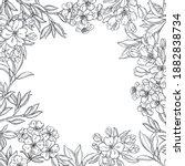hand drawn spring flowers....   Shutterstock .eps vector #1882838734
