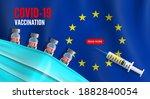 covid 19 vaccination  european... | Shutterstock .eps vector #1882840054