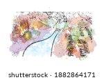 building view with landmark of... | Shutterstock .eps vector #1882864171