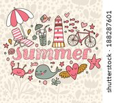 summer concept background in... | Shutterstock .eps vector #188287601