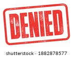 denied eroded red stamp with... | Shutterstock .eps vector #1882878577