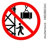 danger crane operating overhead ... | Shutterstock .eps vector #1882882261