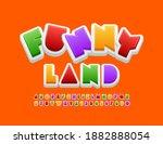vector playful sign funny land. ... | Shutterstock .eps vector #1882888054