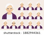 mature senior woman with... | Shutterstock .eps vector #1882944361