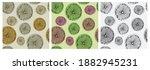 set of seamless patterns. hand... | Shutterstock .eps vector #1882945231