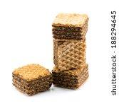 chocolate wafer cookies...   Shutterstock . vector #188294645