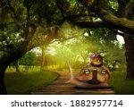Fantasy World. Magic Snail With ...
