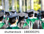 crowd image of students at... | Shutterstock . vector #188300291