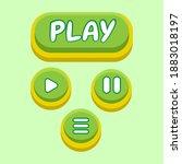 green color game button icon...