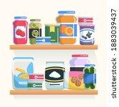 shelf supermarket. storeroom... | Shutterstock .eps vector #1883039437