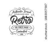 vintage clothing tailor logo... | Shutterstock .eps vector #1883057587