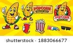 Cartoon Corn Mascot Character...