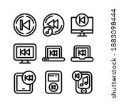 prev icon or logo isolated sign ...