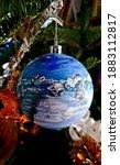 Small photo of Paris, December 2020. Christmas tree pleas on the Christmas tree.