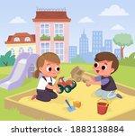 vector illustration of children ...   Shutterstock .eps vector #1883138884