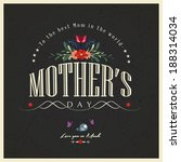 happy mother's day card | Shutterstock .eps vector #188314034