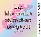 Bible. Psalms 91 14 God Says  ...