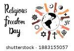 religious freedom day lettering ... | Shutterstock .eps vector #1883155057