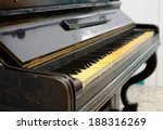 Old Piano With Ivory Keys That...