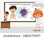 young scientist explaining... | Shutterstock .eps vector #1883175397