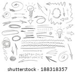 set of graphic signs. pencil.... | Shutterstock .eps vector #188318357