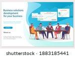 business solitions development... | Shutterstock .eps vector #1883185441