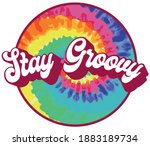 70s retro hippie stay groovy... | Shutterstock .eps vector #1883189734