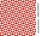 Red And White Maple Leaf...