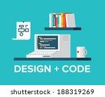 flat design style modern vector ... | Shutterstock .eps vector #188319269