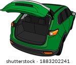 open car trunk vector cartoon... | Shutterstock .eps vector #1883202241