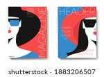 two variants of fashion... | Shutterstock .eps vector #1883206507