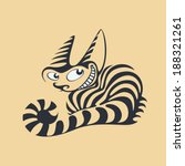 animal,cartoon,cat,cheshire,domestic,drawing,feline,graphic,illustration,painting,pet,smiling,smug,strip,striped
