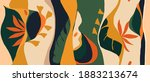 playful jungle plants pattern.... | Shutterstock .eps vector #1883213674