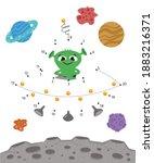 flying saucer. dot to dot....   Shutterstock .eps vector #1883216371