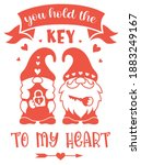 valentine day card with quote... | Shutterstock .eps vector #1883249167